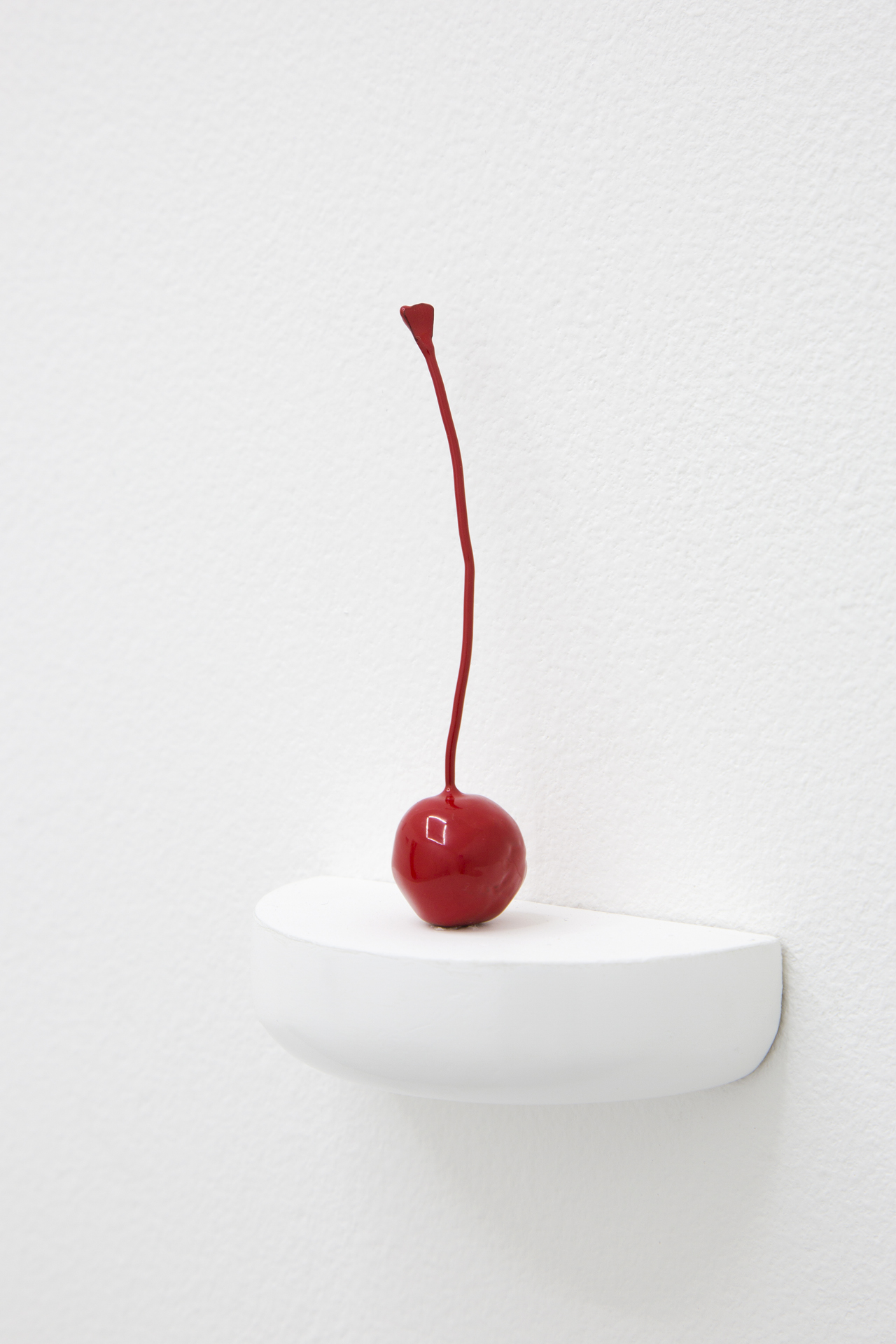 Luis Miguel Bendaña, Cherry, 2018. Powder coated cast bronze, 2 x 2 x 9cm; 1 x 1 x 3.5 in.