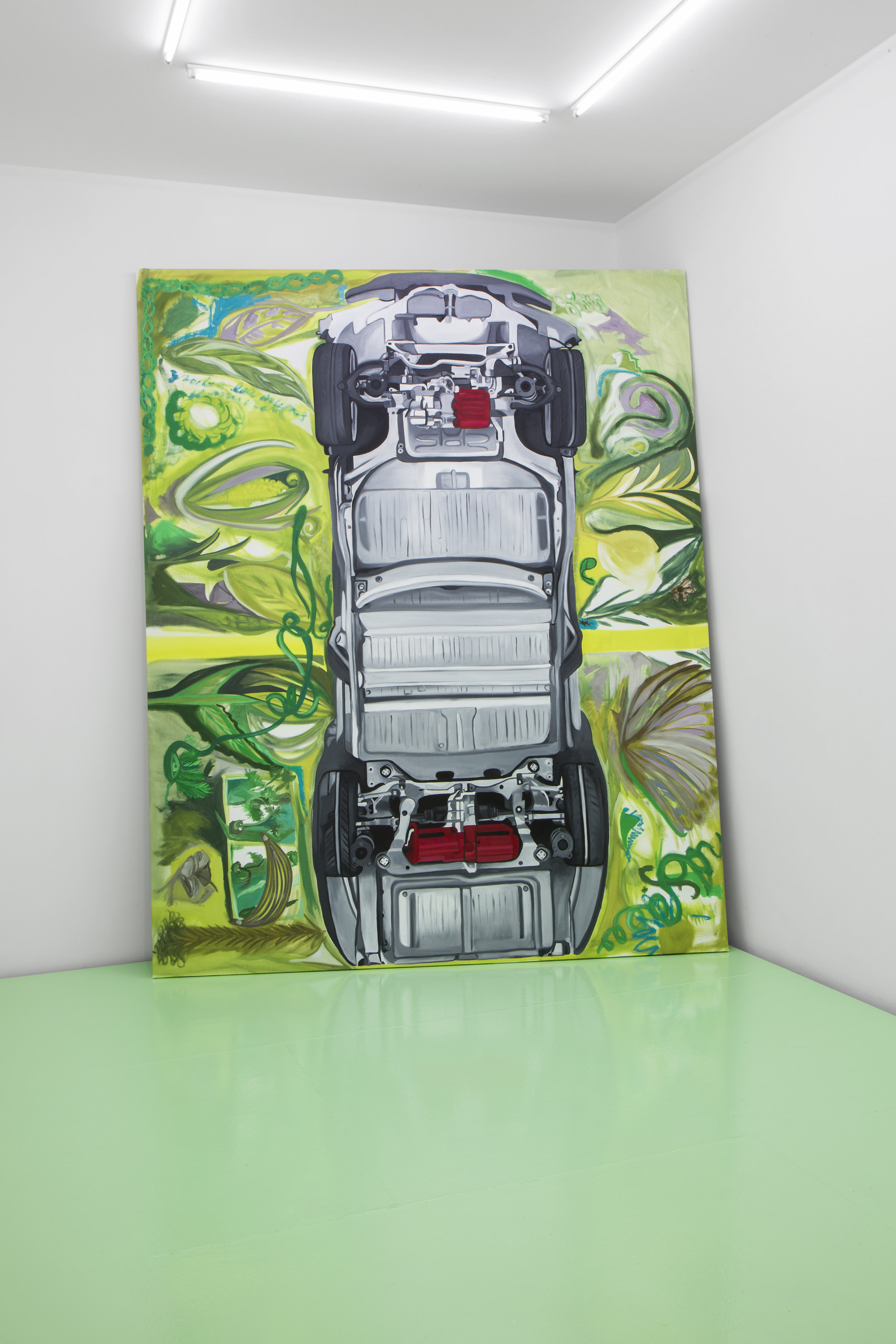 Frieda Toranzo Jaeger,  Tesla , 2018. Oil on canvas, 205 x 255 cm; 80.7 x 100.39 inches.