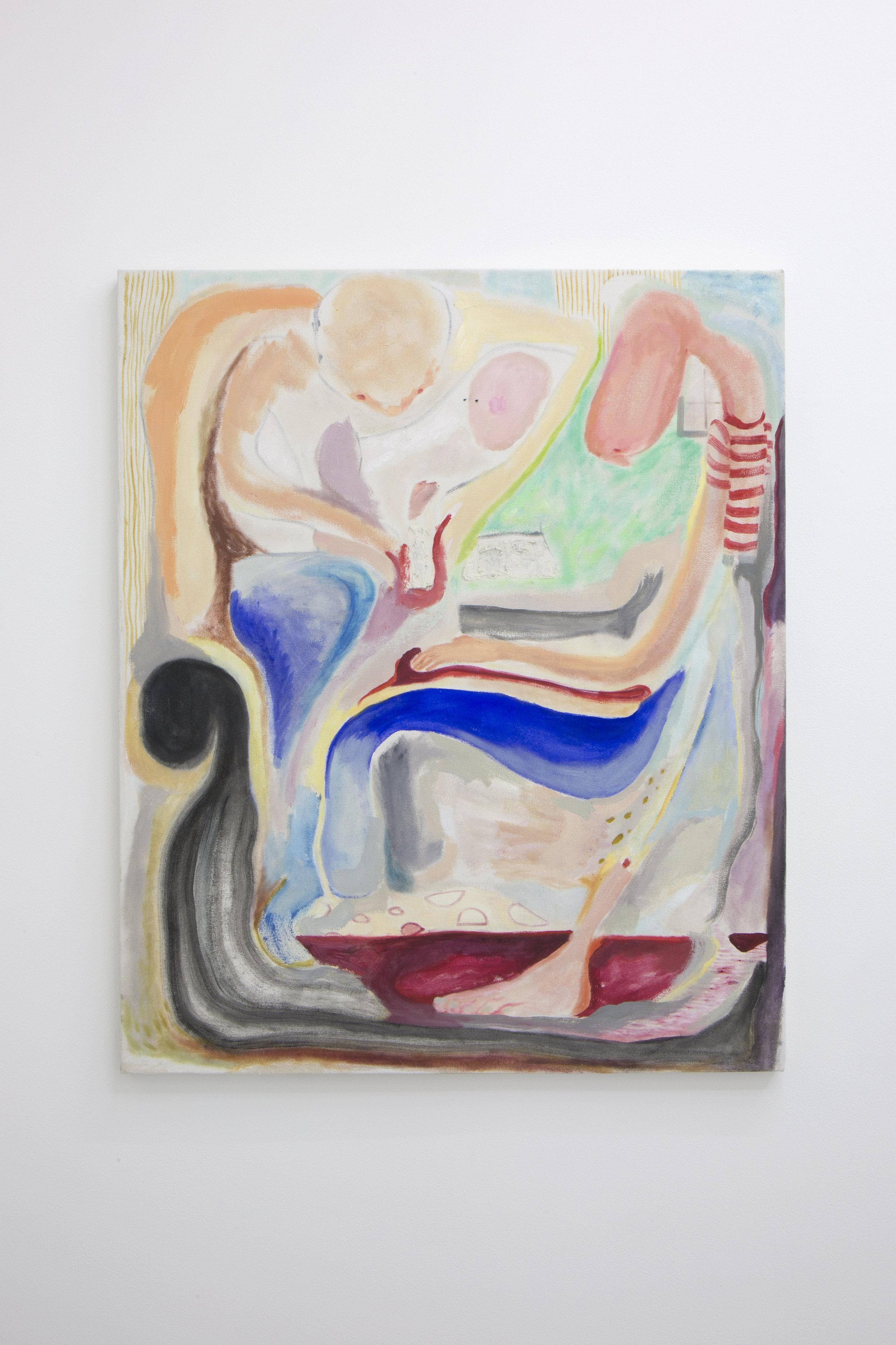 Lucía Vidales, Later (Ahorita), 2018.  Oil on canvas  84X71cm 33.07X 27.9528 inch