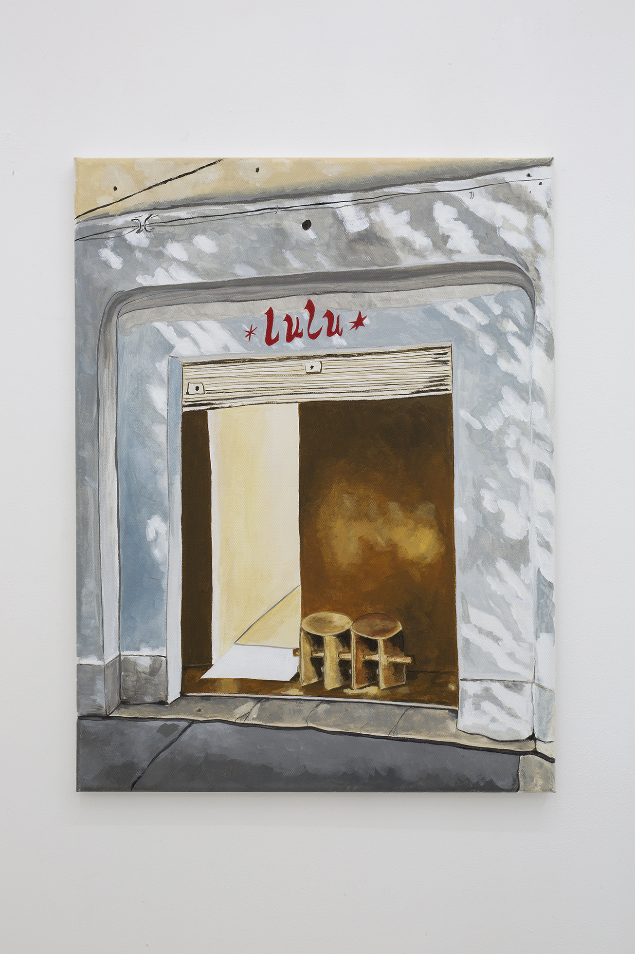 Shana Sharp, Lulu gallery, 2018. Acrylic on canvas. 18 x 24 inch (45.72 x 60.96 cm)