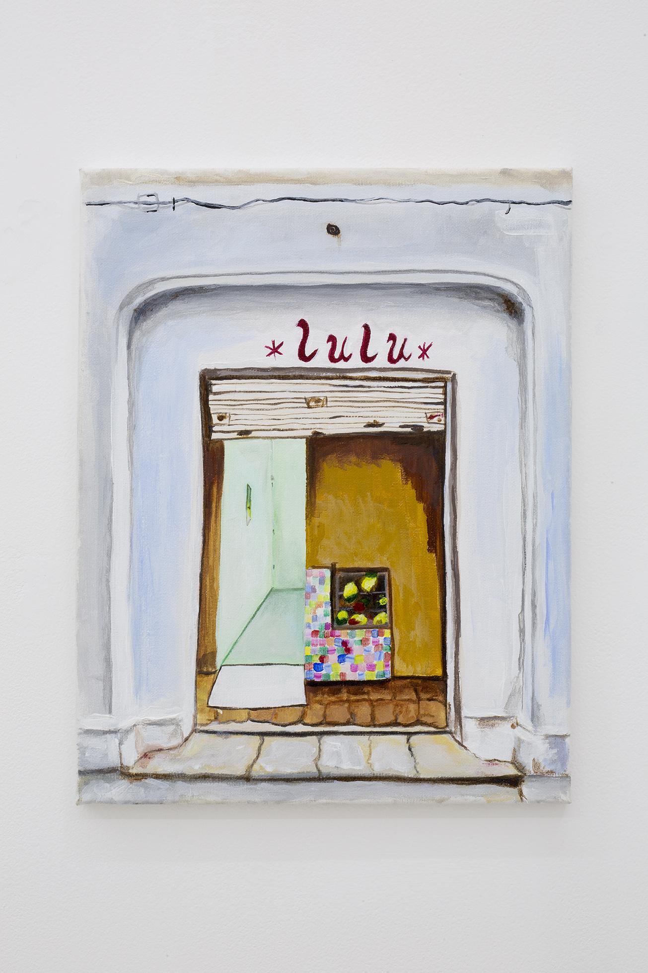 Shana Sharp, Lulu, 2017. Acrylic on canvas. 11 x 14 inch (27.94 x 35.56 cm)