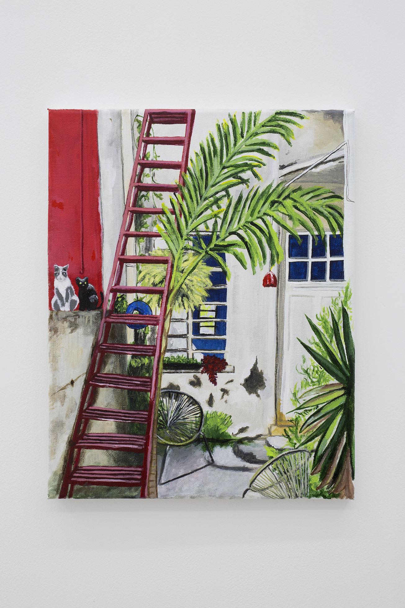 Shana Sharp, Los Gatos, 2018. Acrylic on canvas.  11 x 14 inch (27.94 x 35.56 cm)