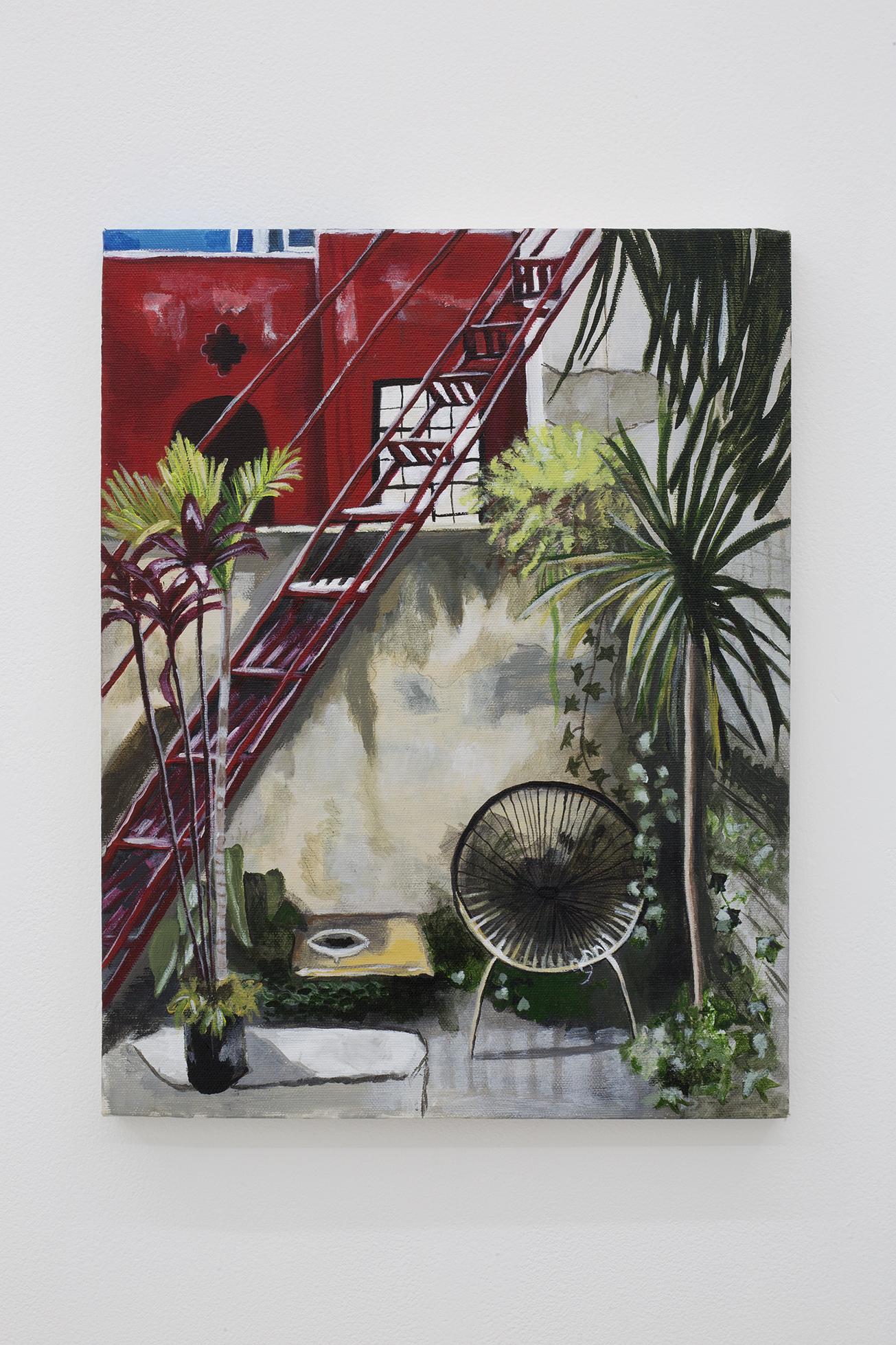 Shana Sharp, Palm, 2018. Acrylic on canvas. 16 x 20 inch (40.64 x 50.8 cm)