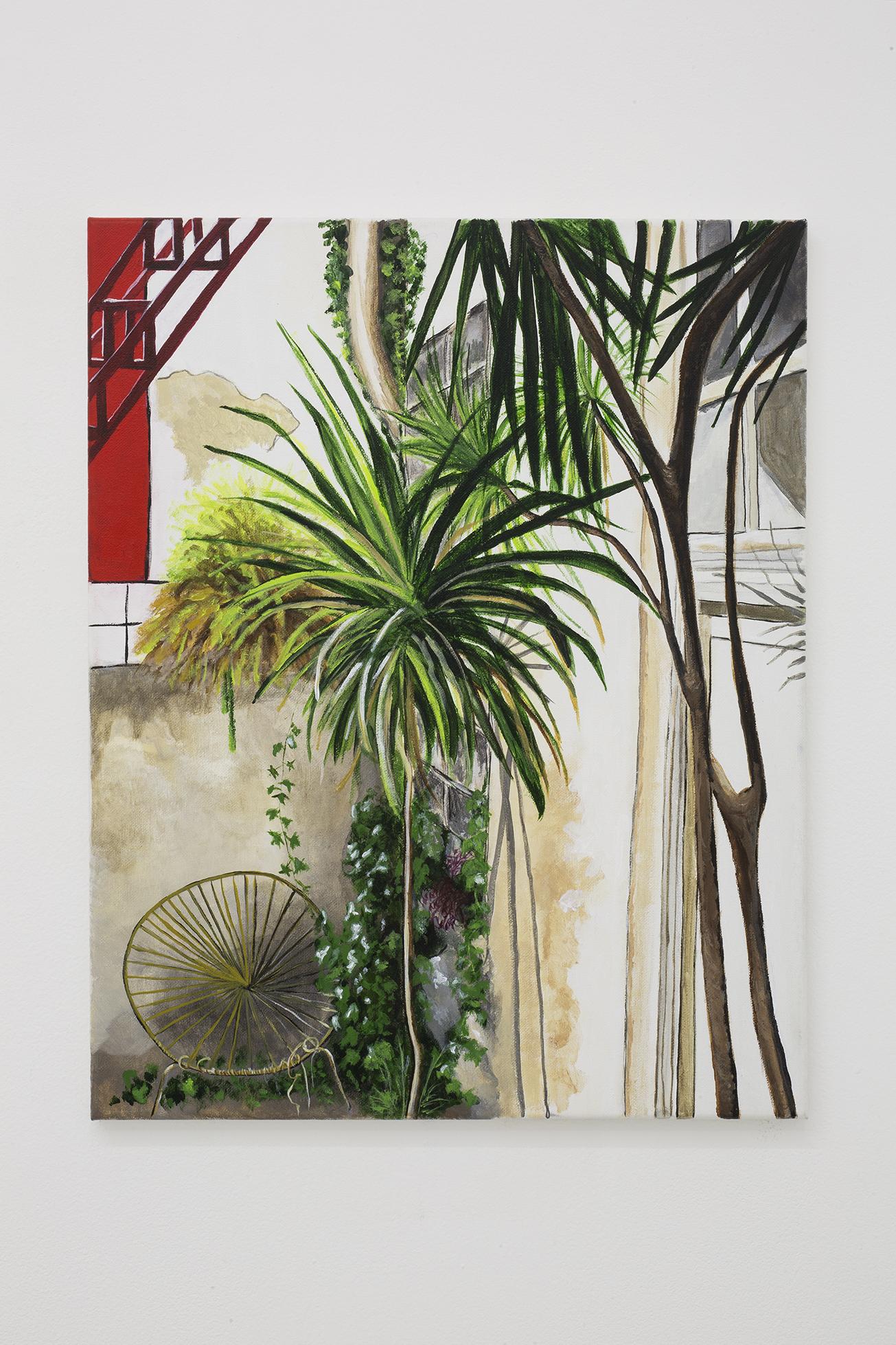 Shana Sharp, Two Coconuts, 2017. Acrylic on canvas.  11 x 14 inch (27.94 x 35.56 cm)