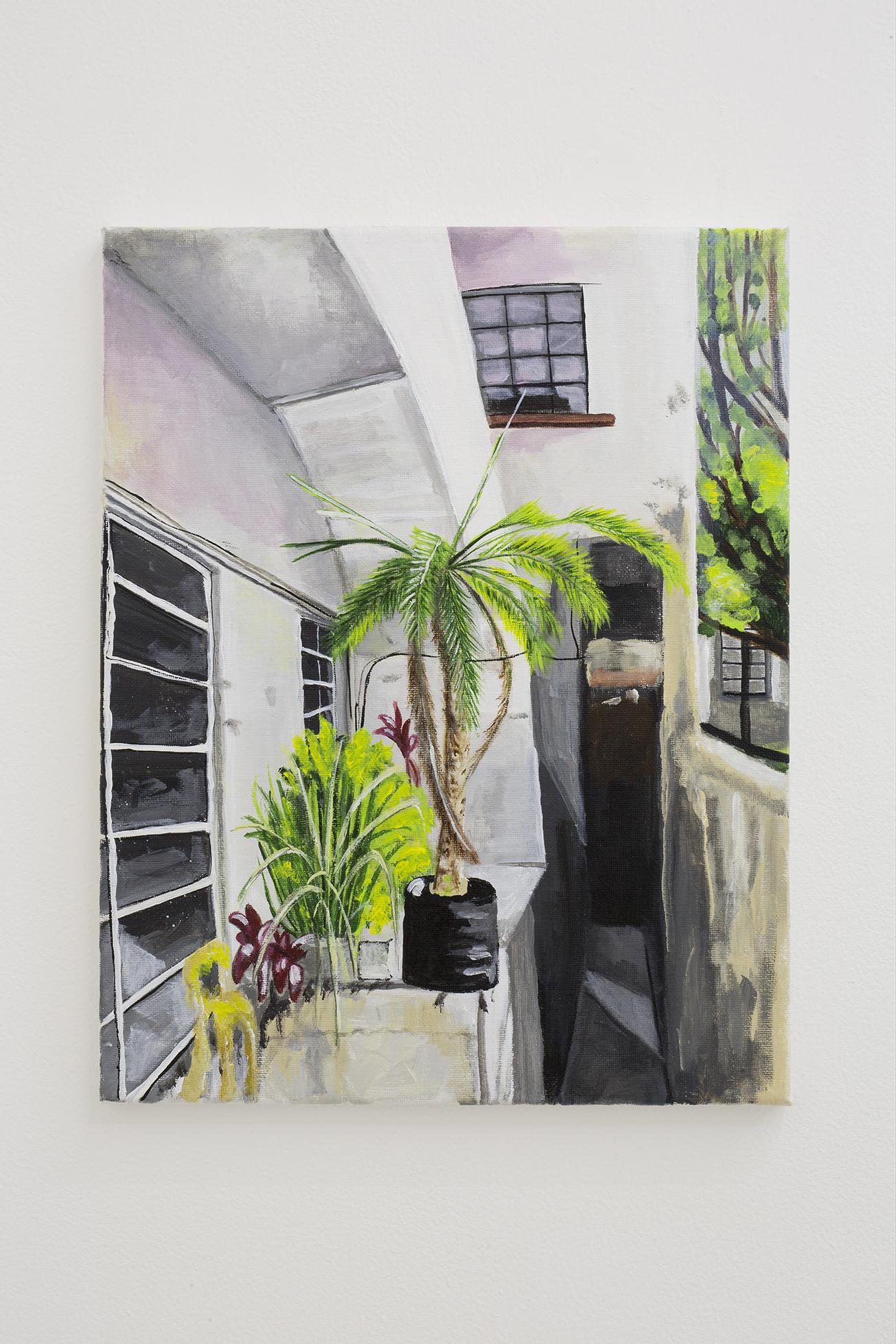 Shana Sharp, The Palm, 2018. Acrylic on canvas.  11 x 14 inch (27.94 x 35.56 cm)