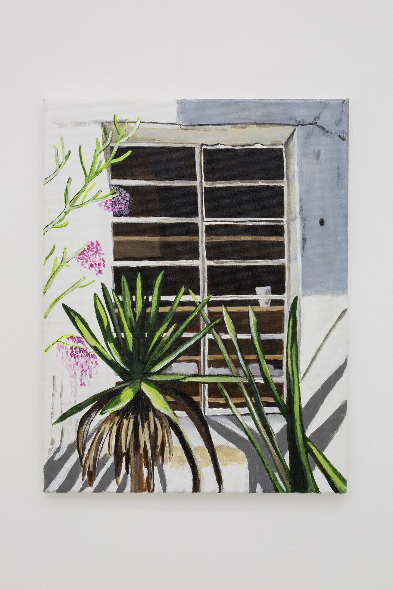 Shana Sharp, La Ventana, 2018. Acrylic on canvas.  11 x 14 inch (27.94 x 35.56 cm)