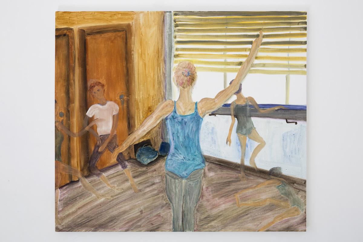"Lea von Wintzingerode  ""departure"",  2019. Oil on canvas, 90 x 101.5 cm (35.4 x 39.9 in)"