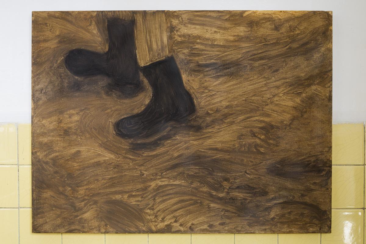 "Lea von Wintzingerode  ""ronde de jambe"",  2019. Oil on canvas, 55.5 x 75.5 cm ( 21.8 x 29.7in)"