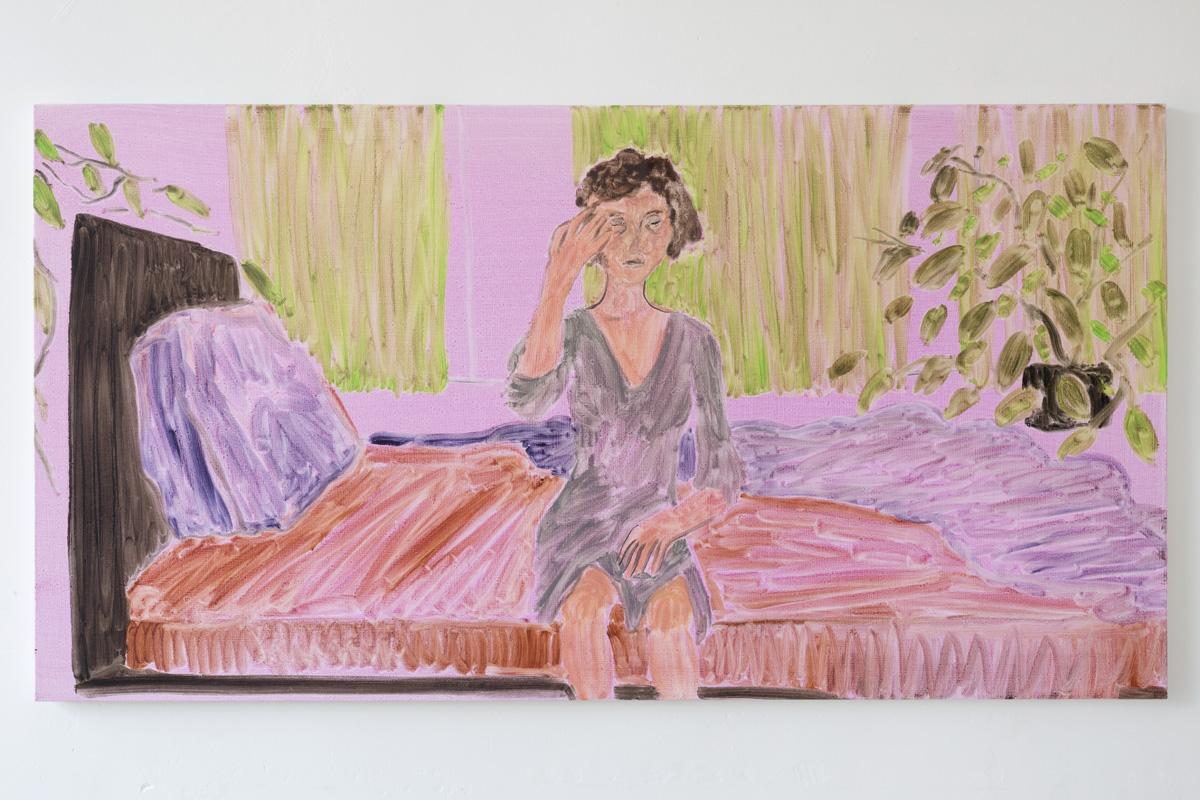 "Lea von Wintzingerode  ""la maja levantándose"",  2019. Oil on canvas, 57 x 109 cm (20.4 x 42.7 i"
