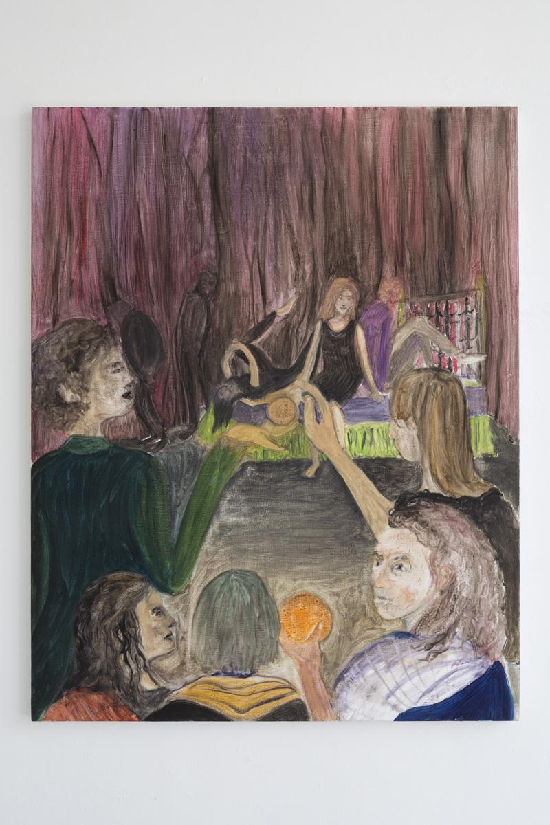 """Lea von Wintzingerode  """"la rendez-vous"""",  2019. Oil on canvas, 76 x 60.5 cm (29.9 x 23.8 in)"""