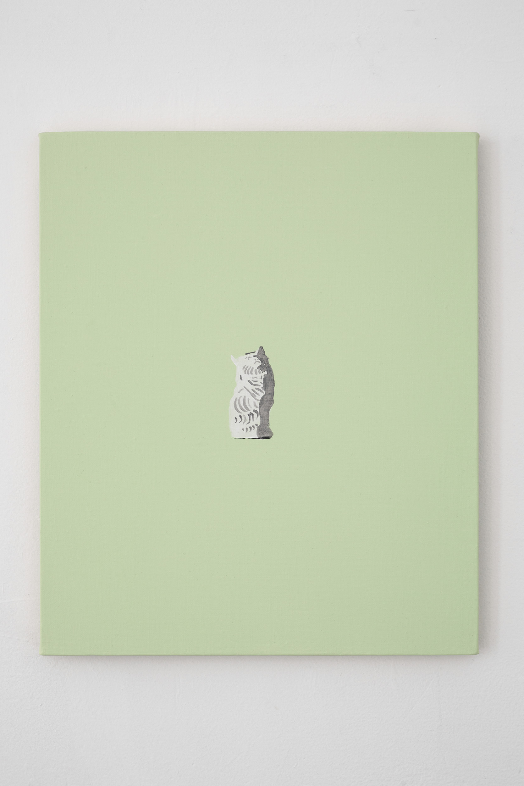 Shimon Minamikawa  (Various) Cat (Figurines),  2019. Acrylic on canvas, 45.6 x 38 cm