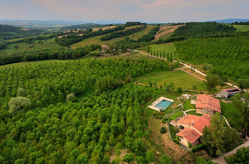 Retreat Site: La Segreta, set on a 70-acre nature preserve in the heart of Umbria, Italy.
