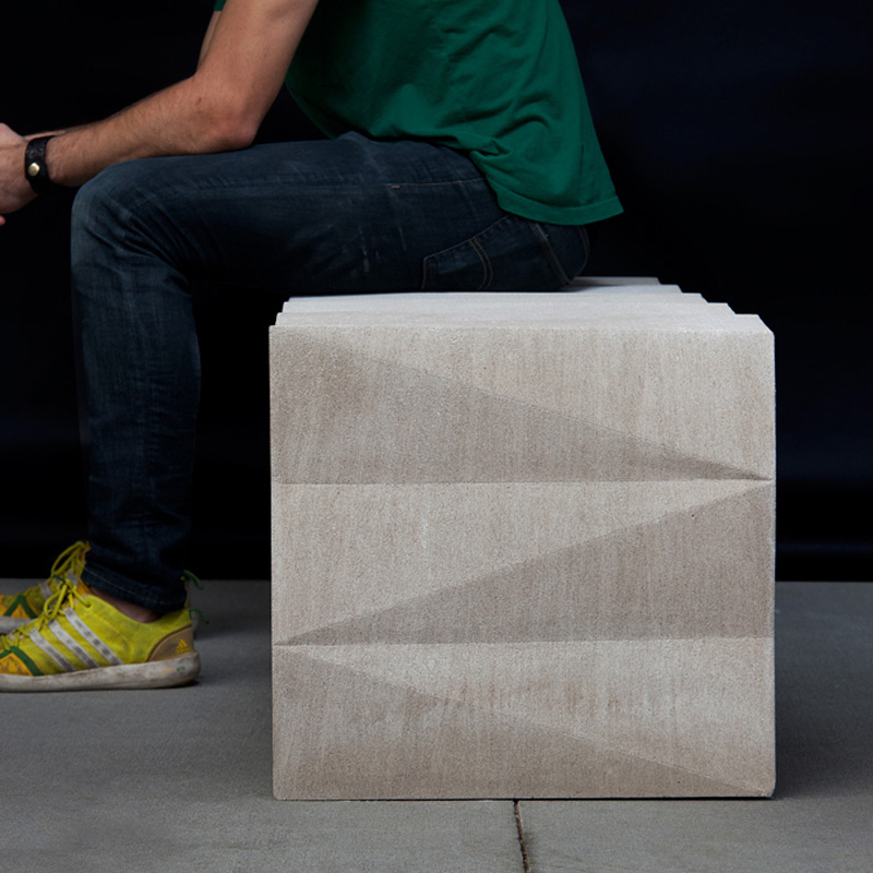Limestone Tonal Bench, Furniture Design
