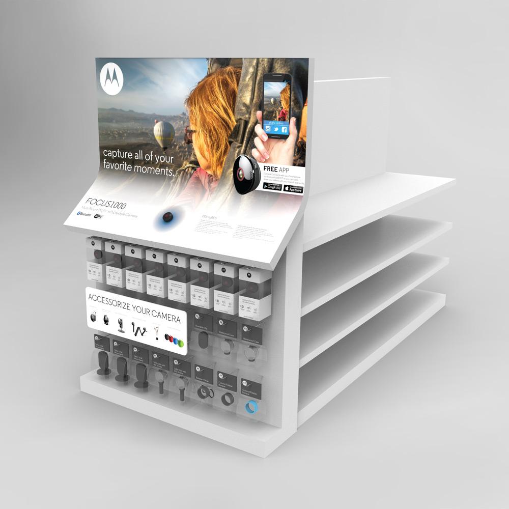 Motorola Endcap, Retail POP Design