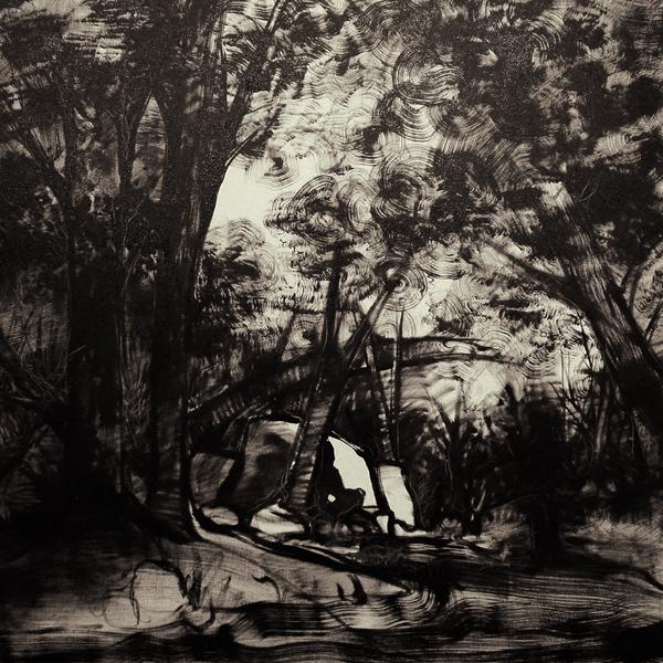 """""""Bosque"""" óleo sobre tela 1x1 m, 2007"""