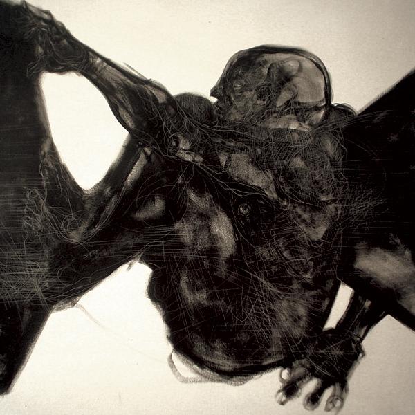 """Escalador"" óleo sobre tela 1x1 m, 2007"