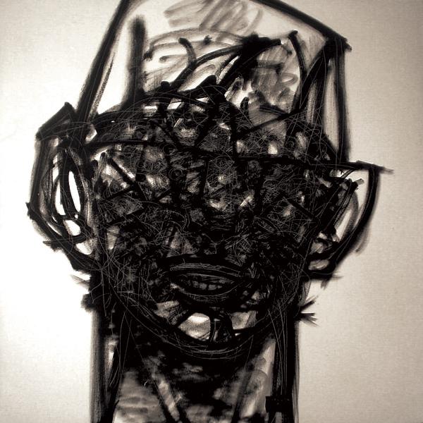 """""""Hombre Universo"""" óleo sobre tela 1x1 m, 2007"""