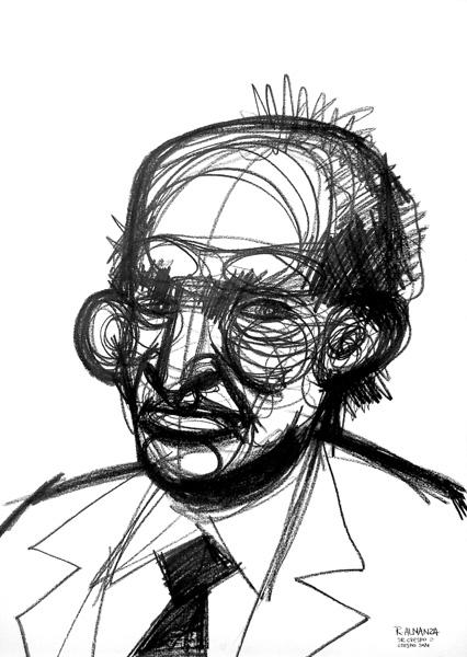 """""""Mr. Crespo"""" grafito, 70x50 cm"""