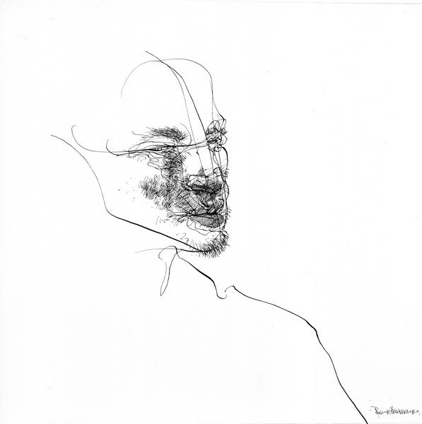 S/T, tinta china sobre papel, 19x19 cm, 2007