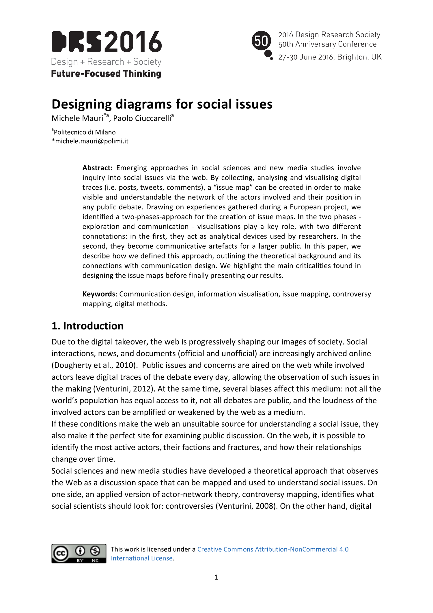 Designing Diagrams For Social Issues Drs2016