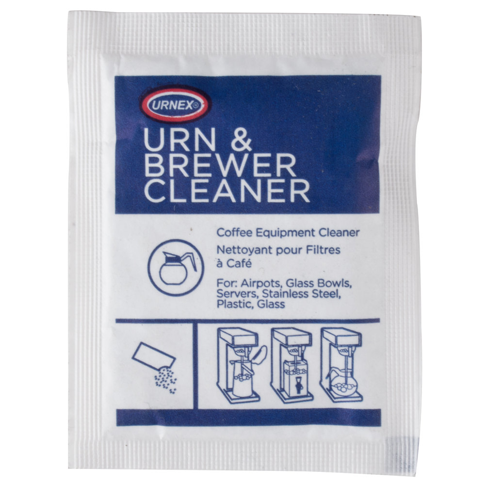 Urn coffee equipment cleaner packet