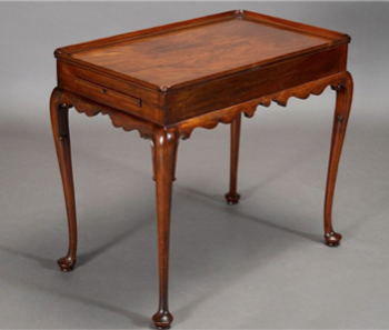 Queen Anne Style Tea Table sold by Michaan's Auctions for $220 on 12/7/2014