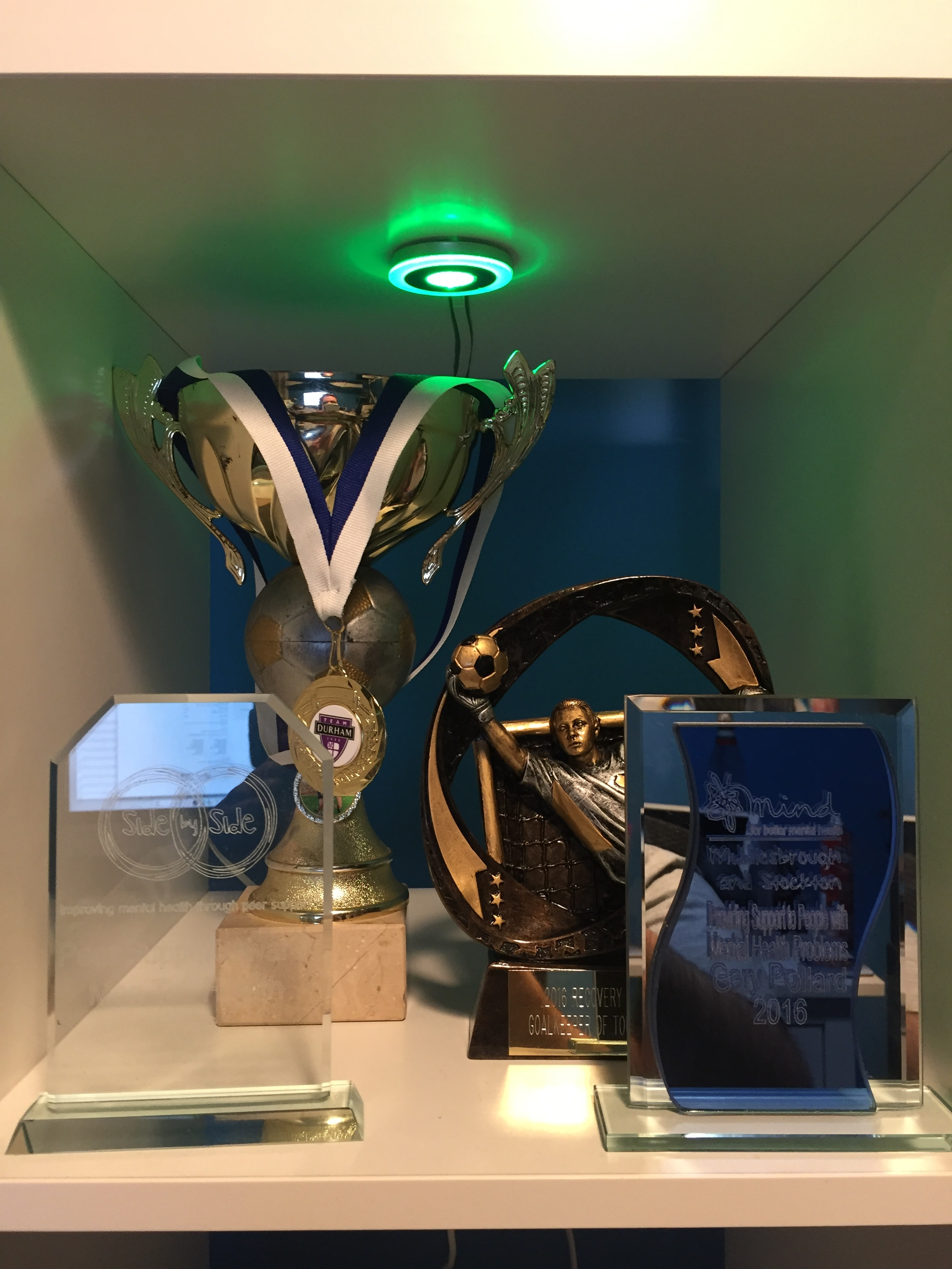 Trophy cabinet starting to look pretty full!