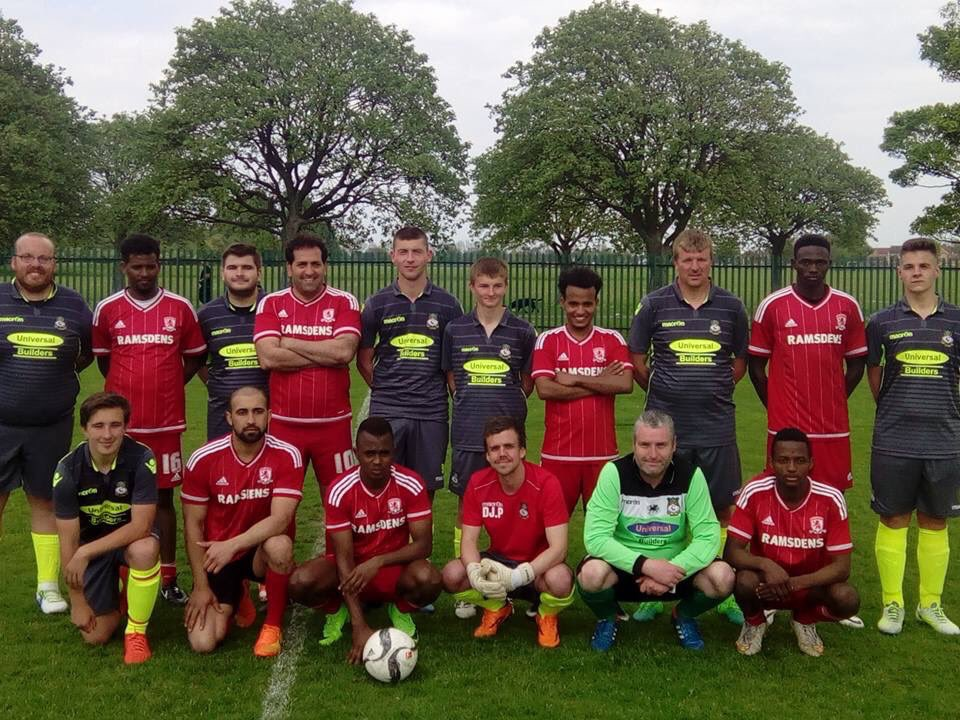 Wrexham and Middlesbrough #ClubTogether ready for their own final.