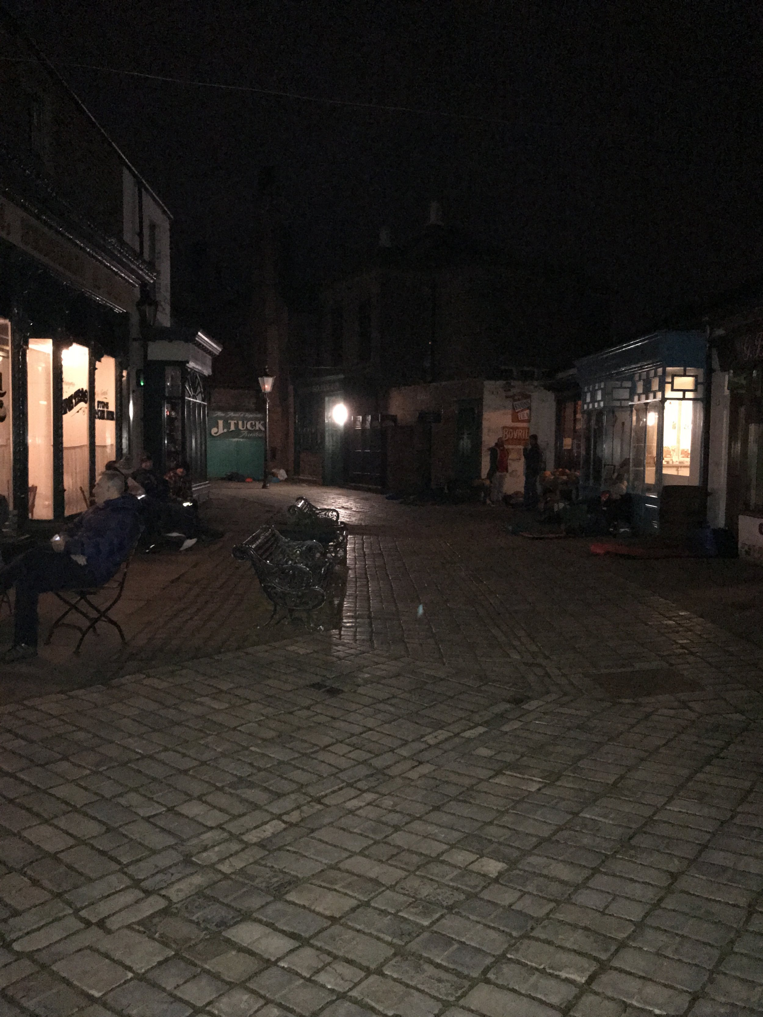 The Victorian Street at Preston Park Museum; our home for the night!
