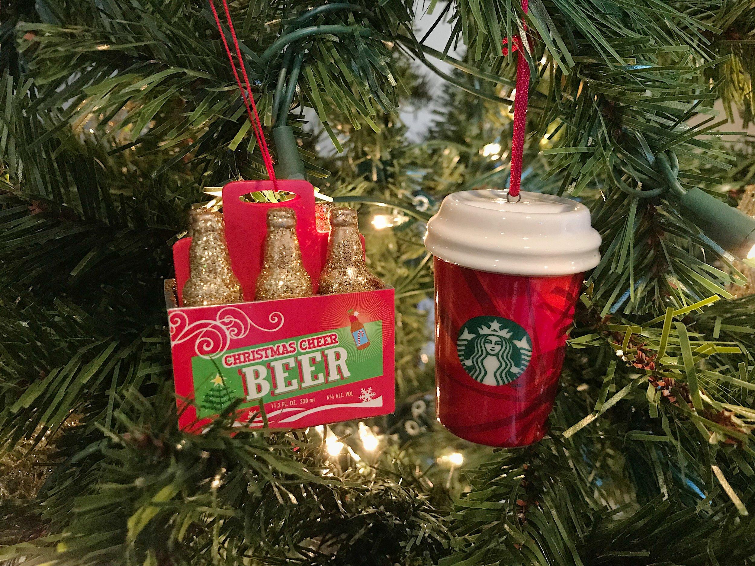 beer and coffee ornaments.JPG