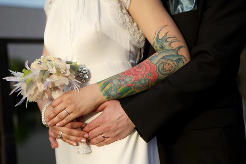 brooklyn tattooed bride