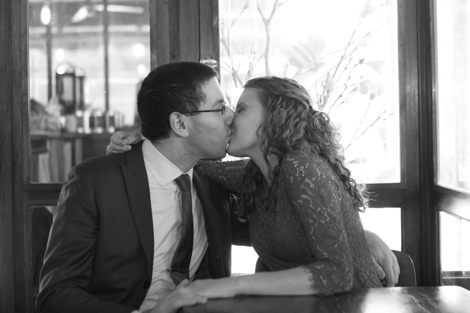 cafe engagement photos park slope
