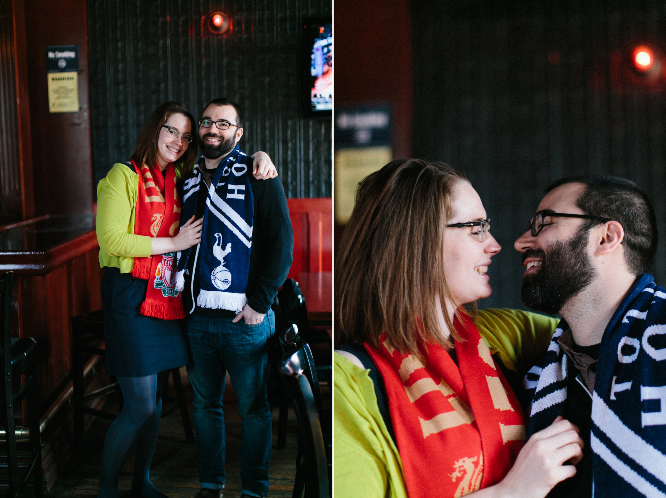 brooklyn bar engagement photos