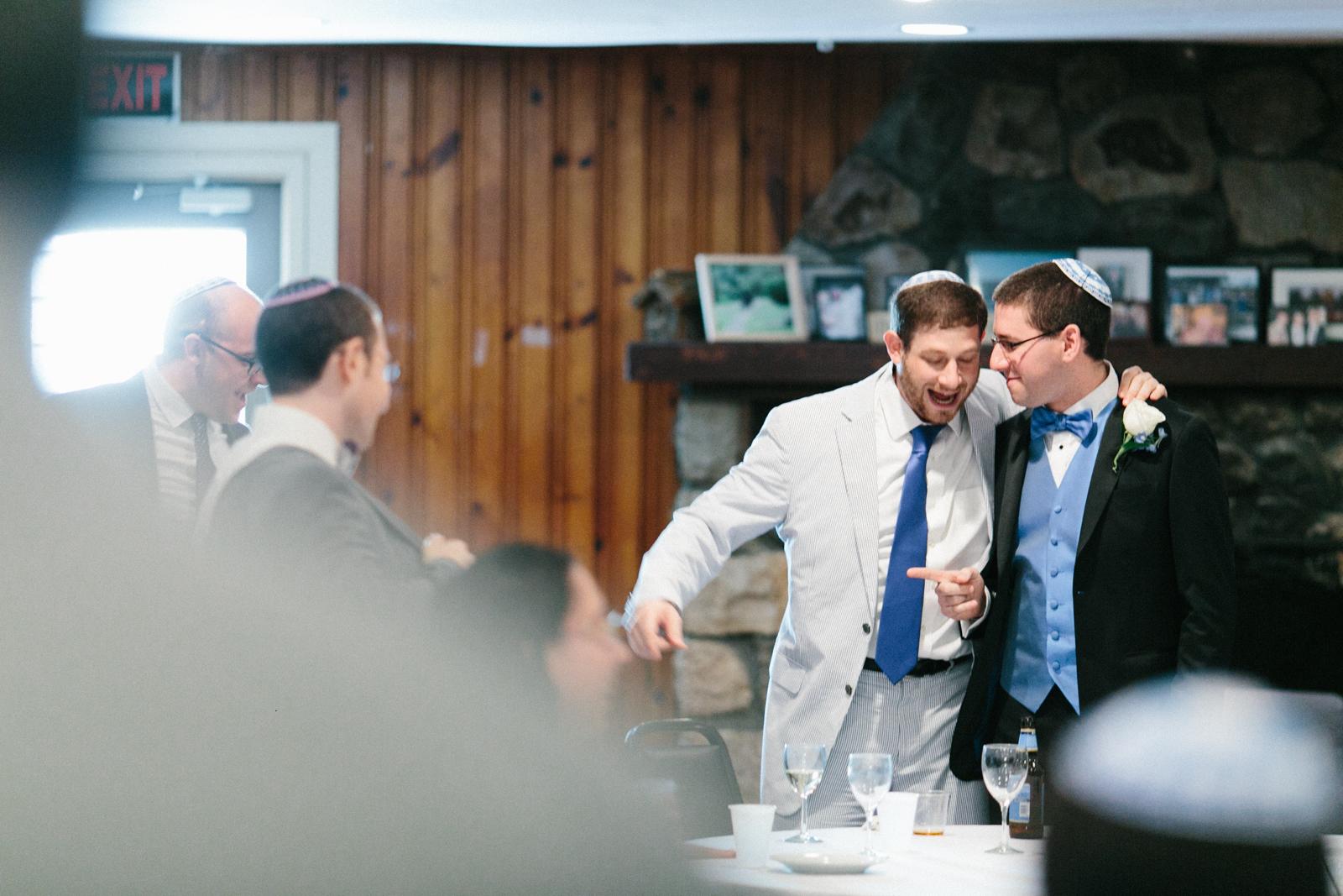 wedding groom celebrating