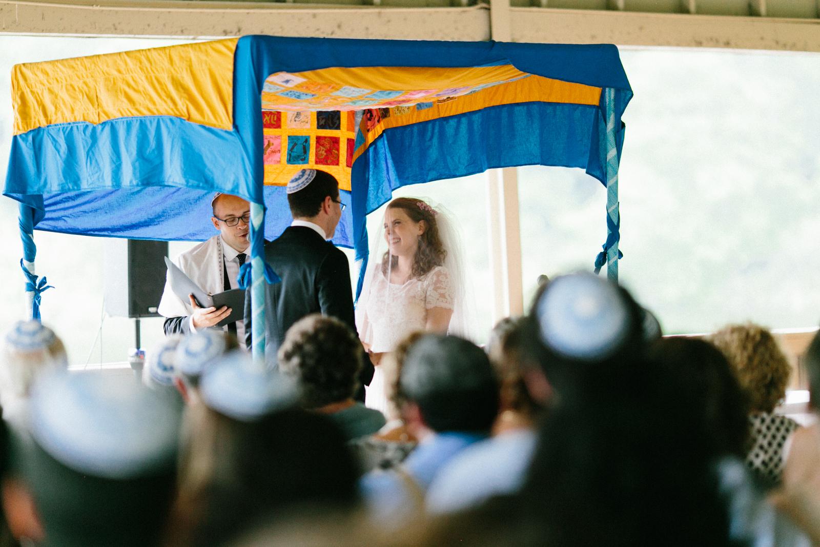 wedding ceremony and chuppah