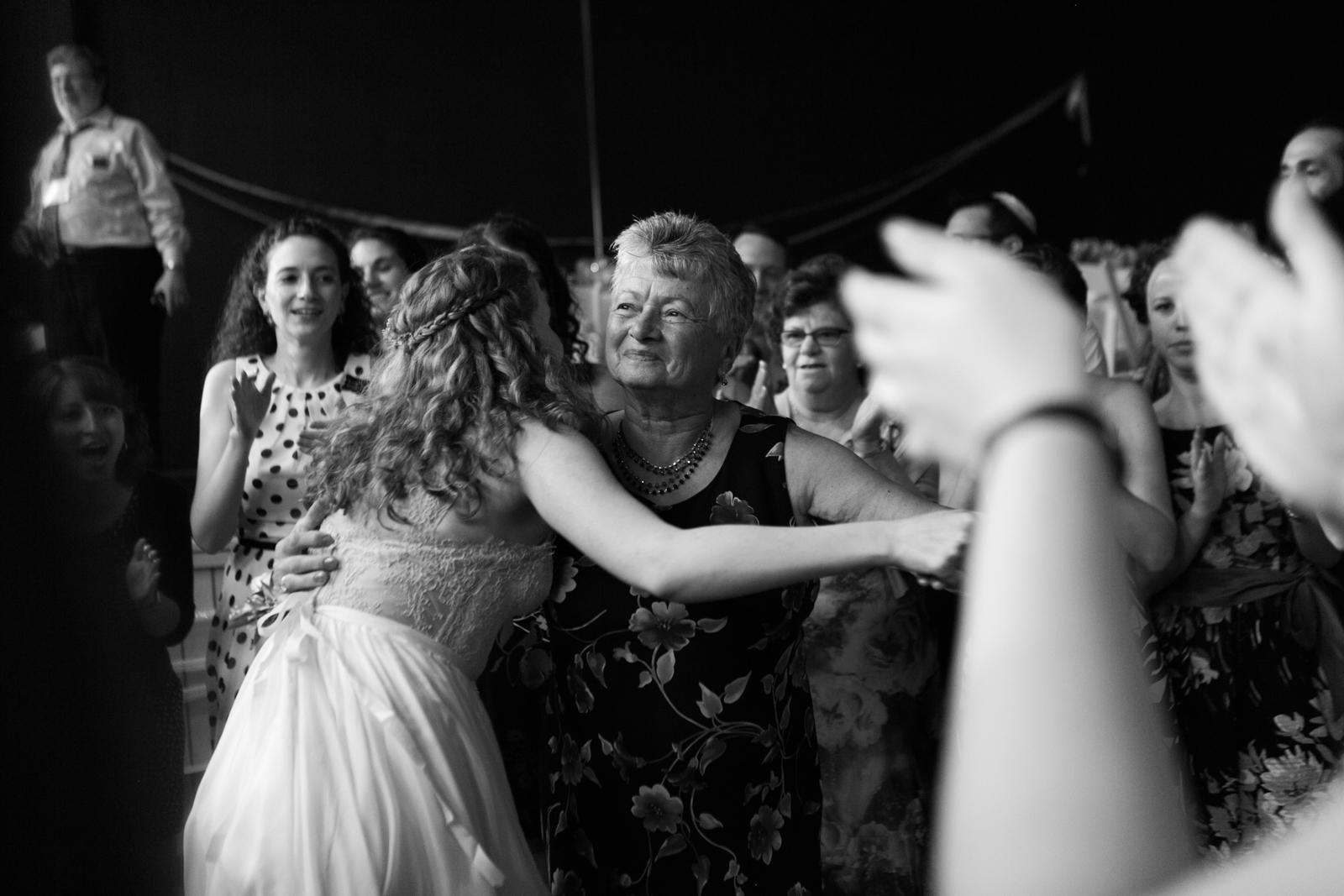 reception bride dancing