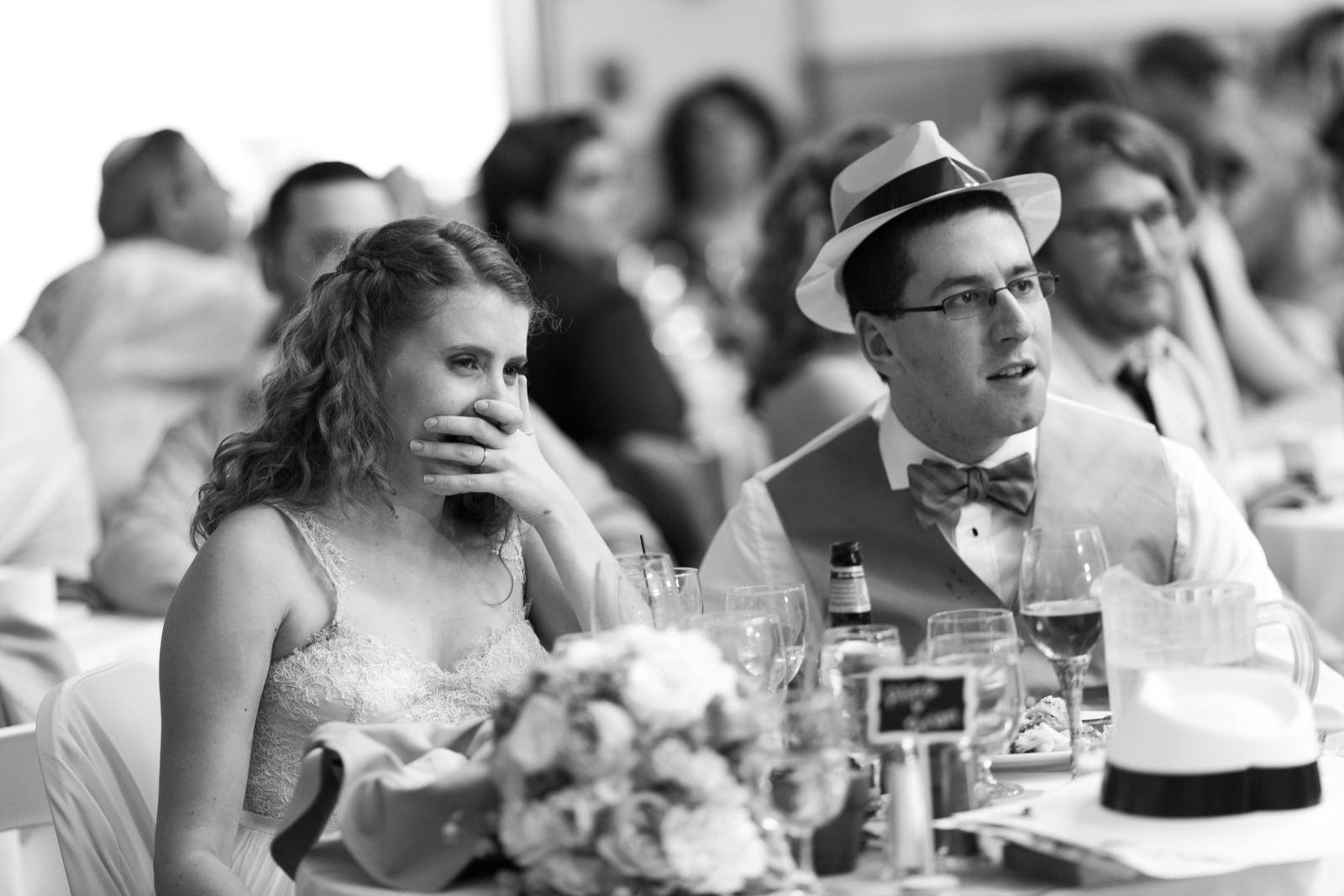 newlyweds reception table
