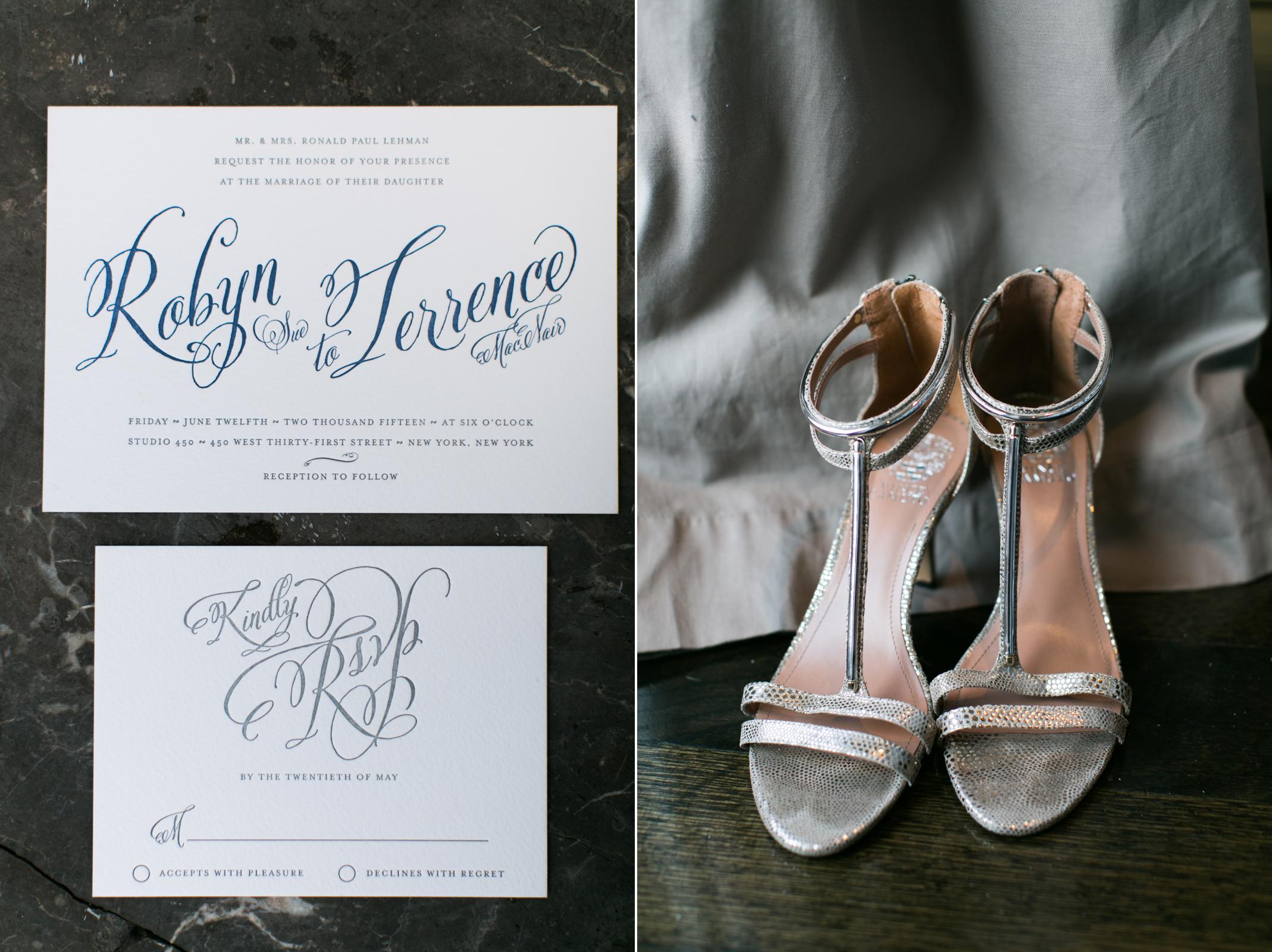 Wedding stationery | Bride shoes