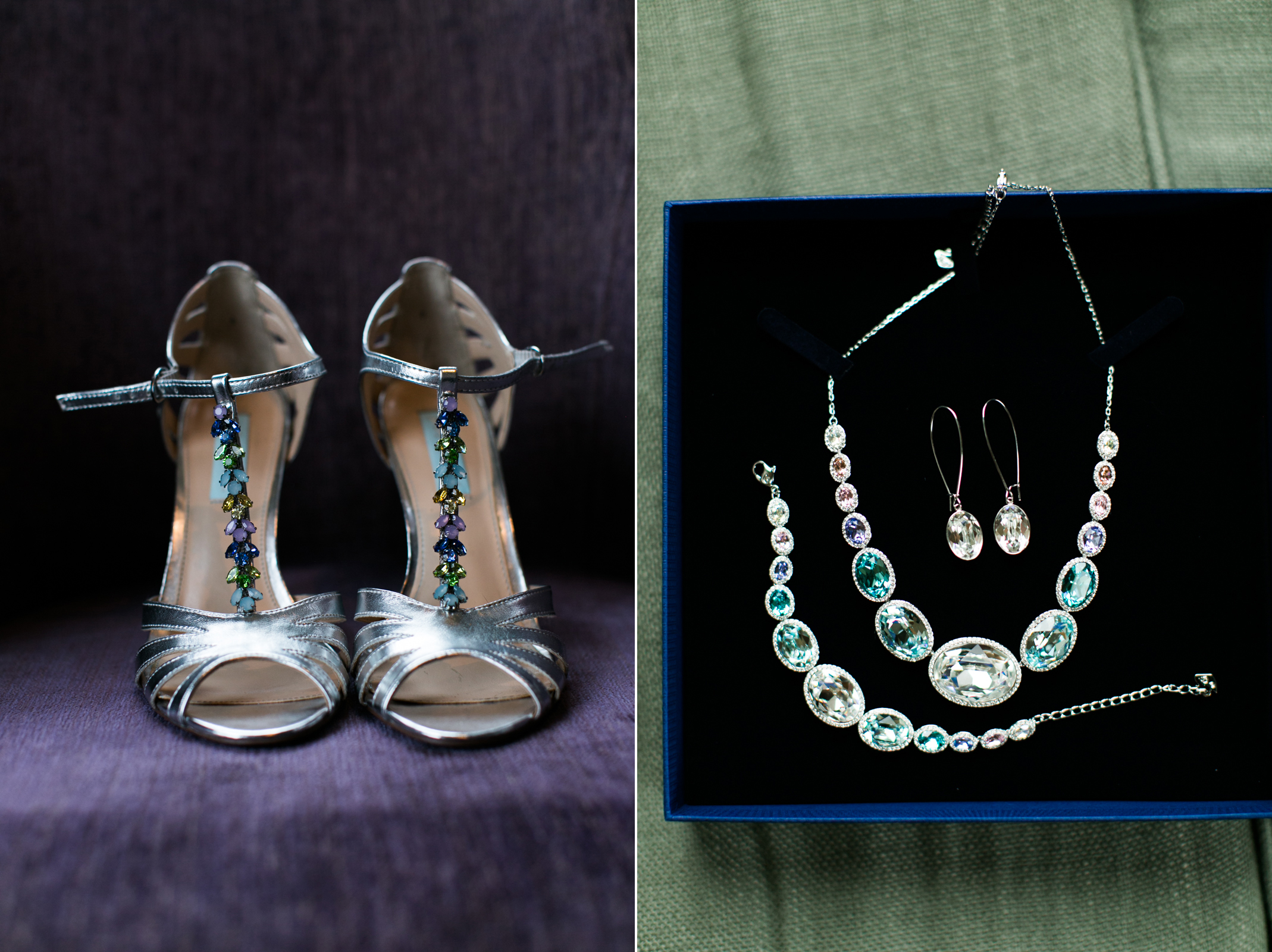 bride shoes & jewelry