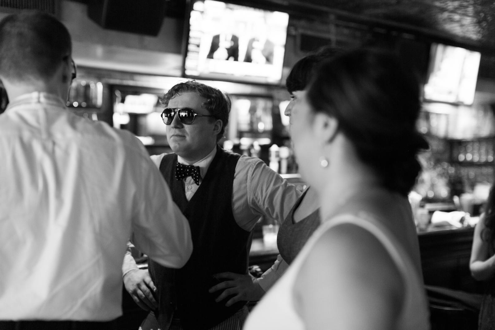 bowtie & sunglasses guest