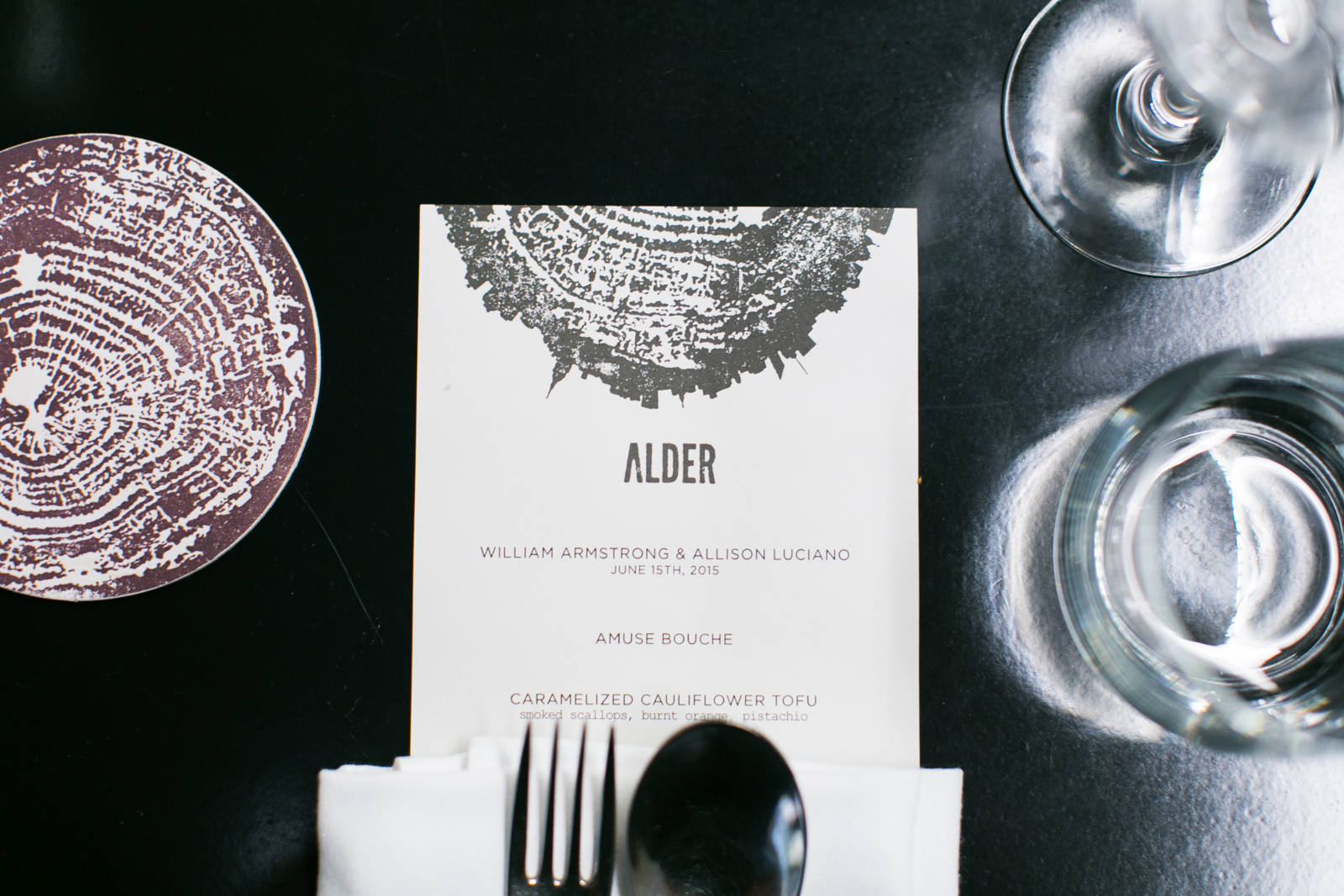 alder reception menu