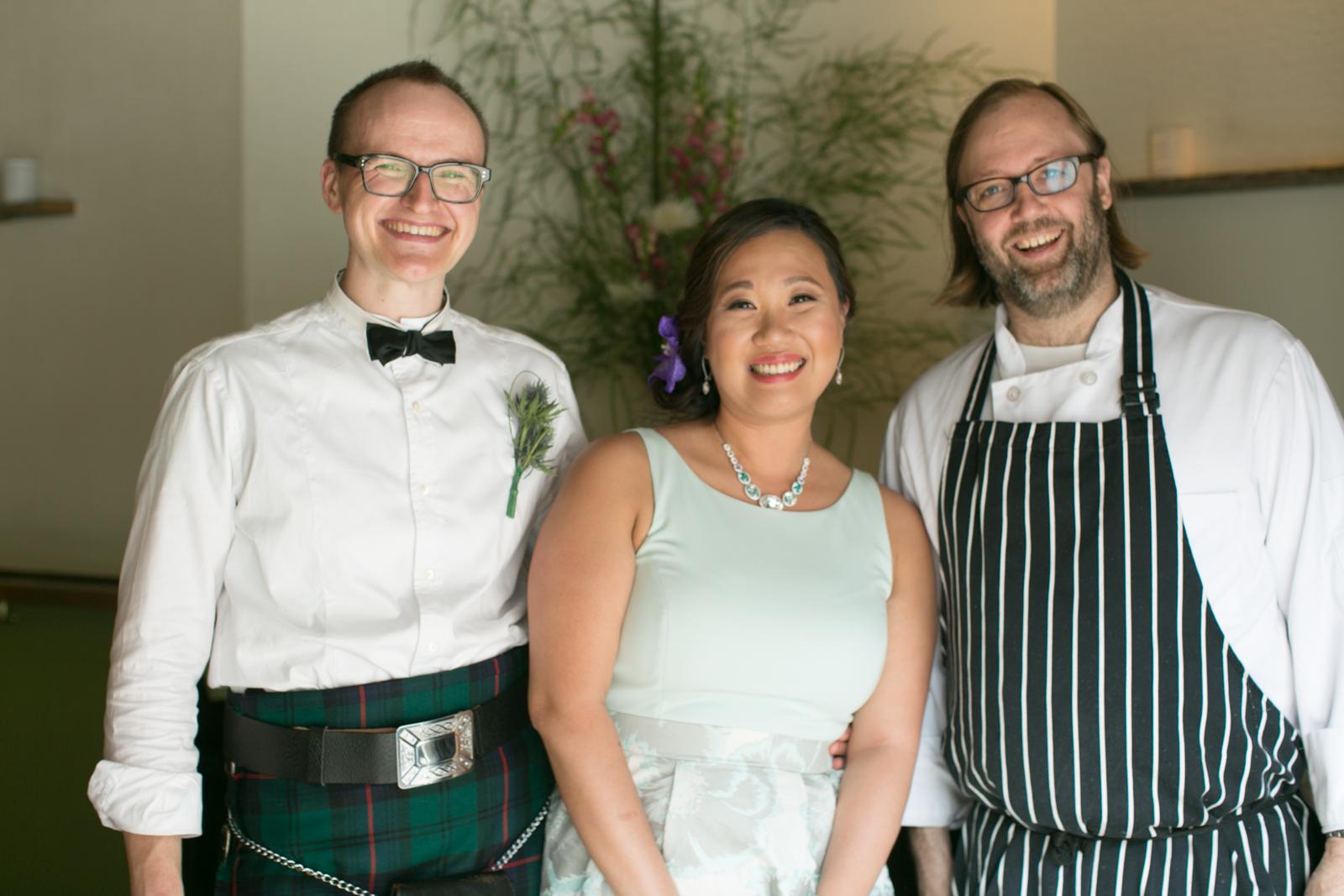 newlyweds with Wylie Dufresne