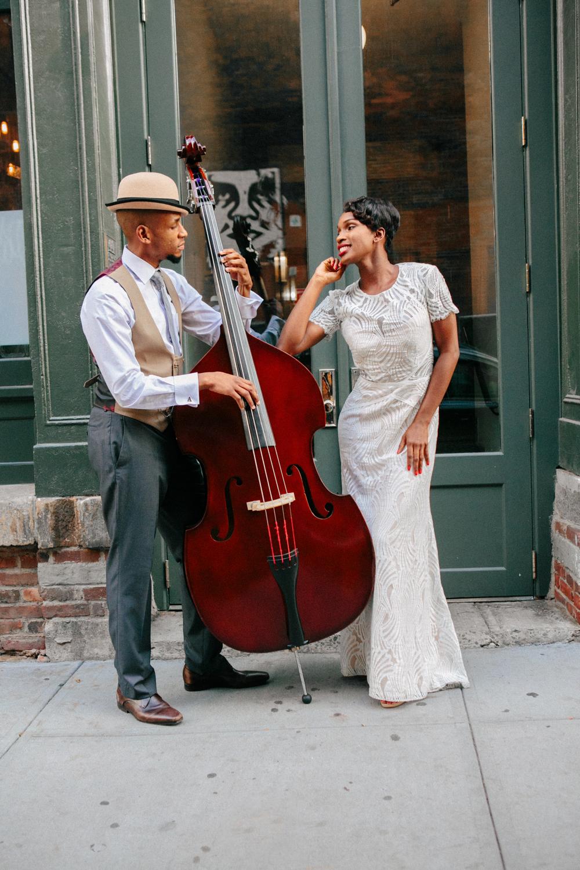 Musical Brooklyn engagement photos