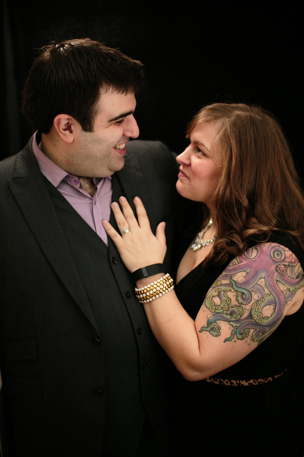 Sarah and Chris of Smitten Chickens. Chris isn't usually in a suit when I see him, so I kind of hit on him. #dreamy