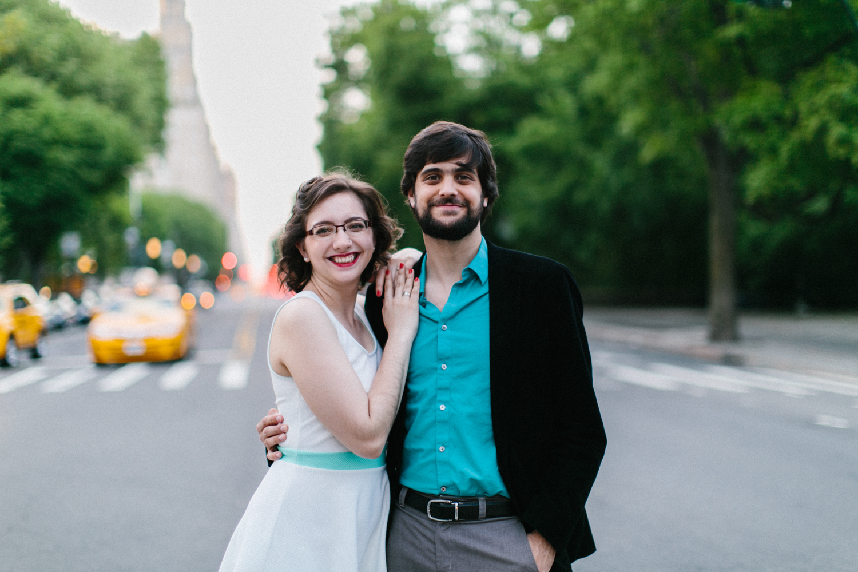Manhattan engagement photo session