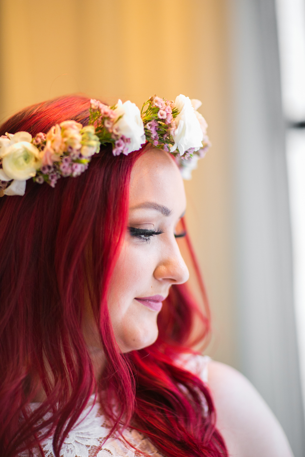 Purple and White Floral Crown