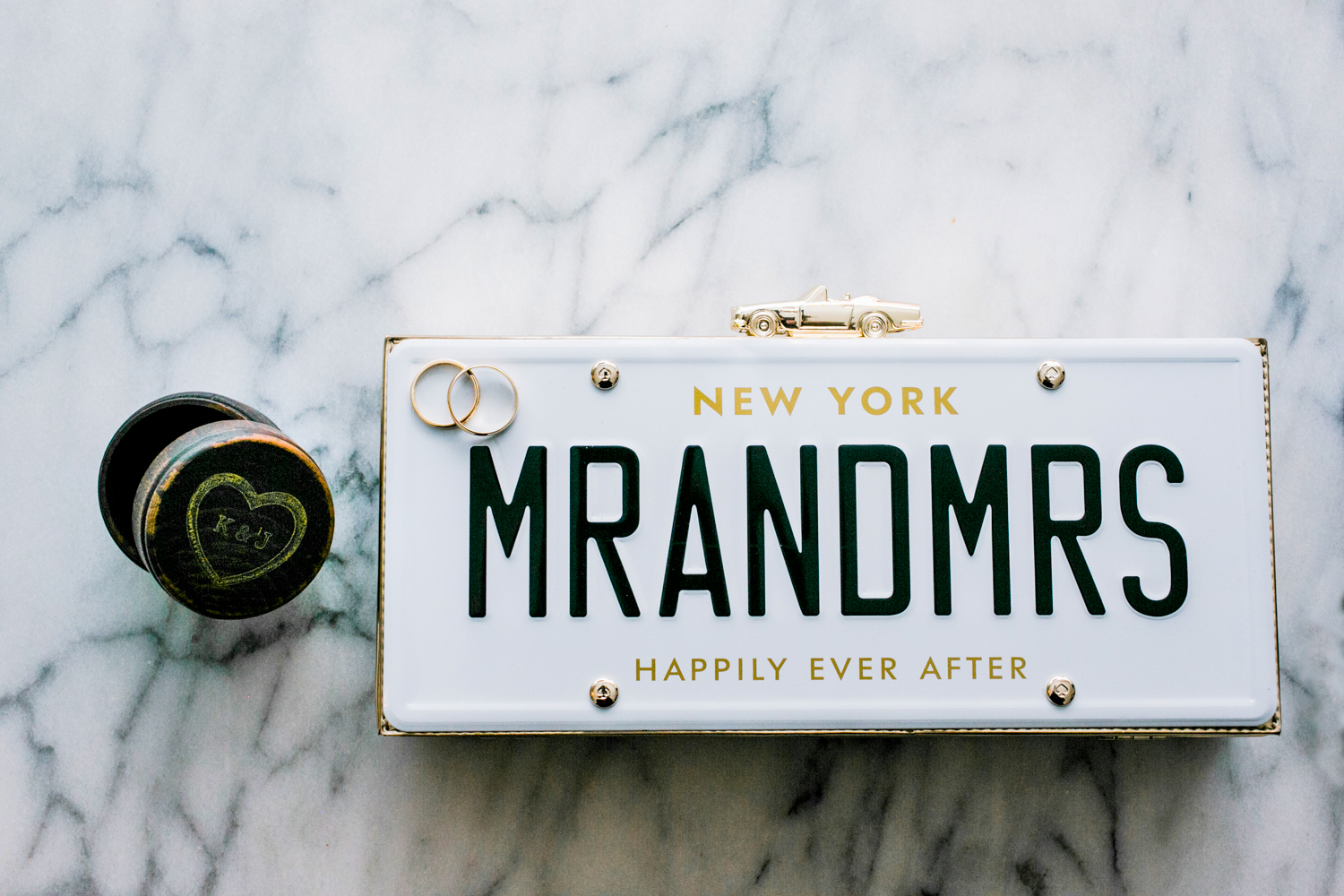 Mr and Mrs License Plate Purse