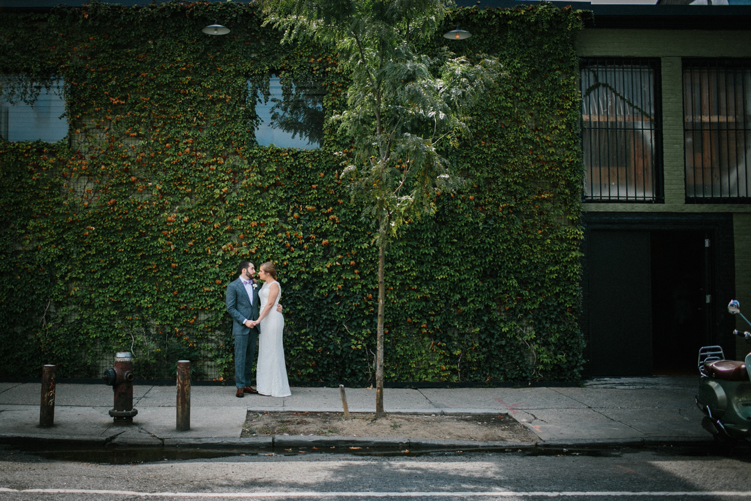 First Look at a Brooklyn Wedding