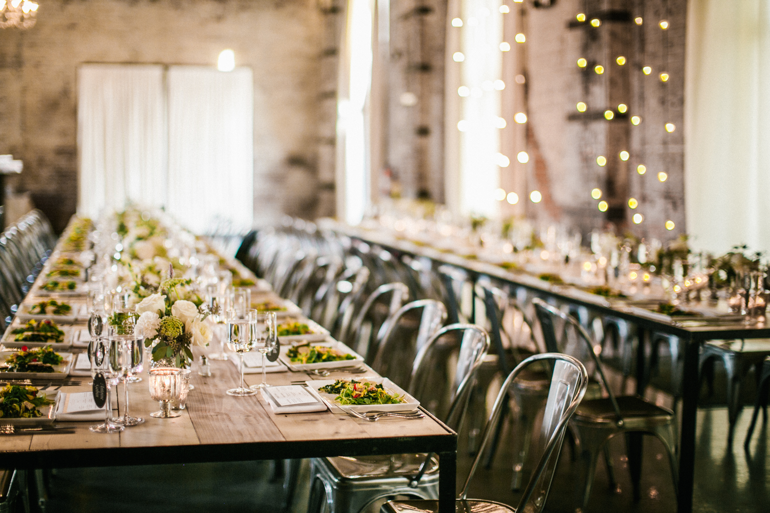 The Green Building Brooklyn Wedding Tables