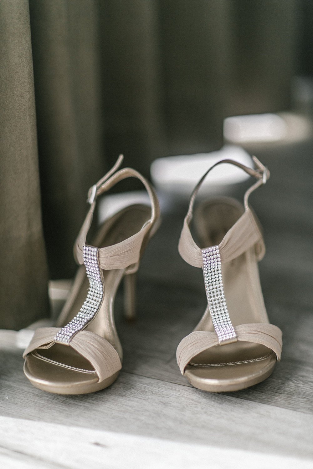 brides shoes from davids bridal